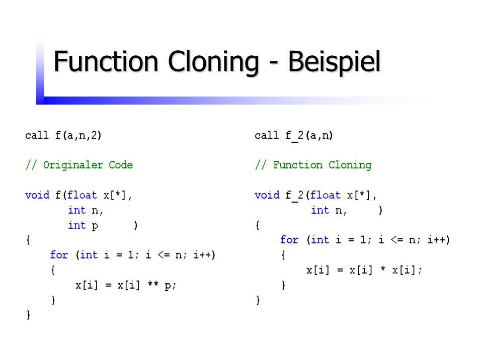 Function Cloning - Beispiel