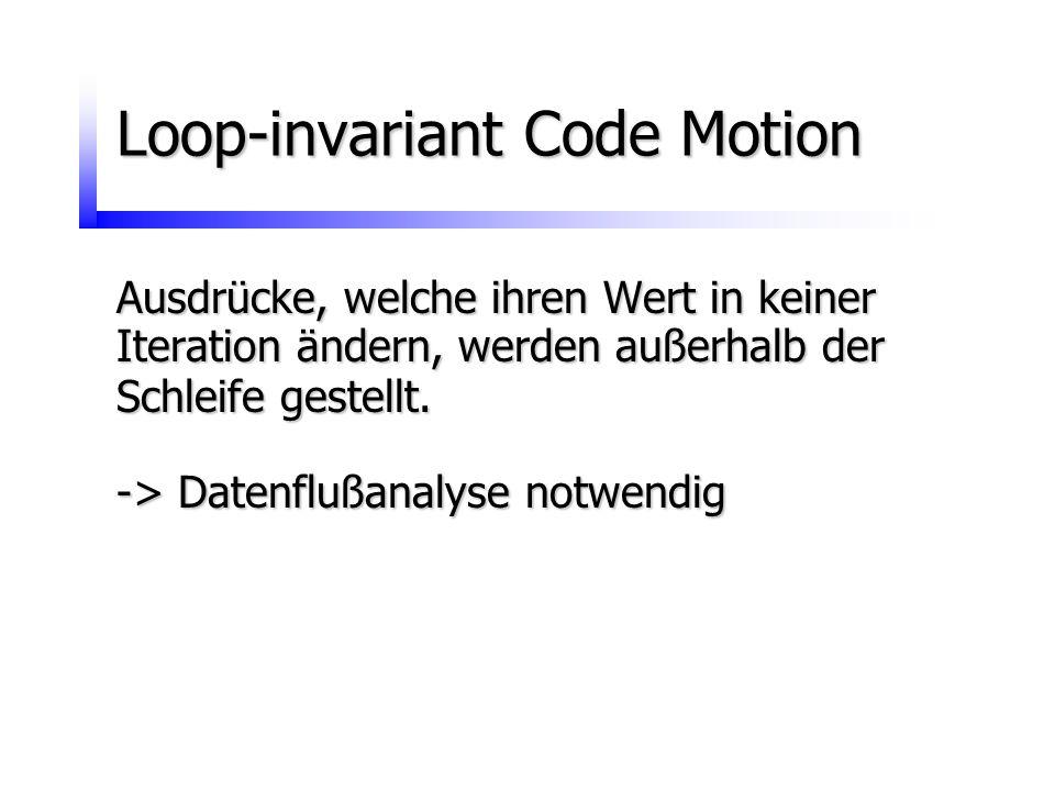 Loop-invariant Code Motion