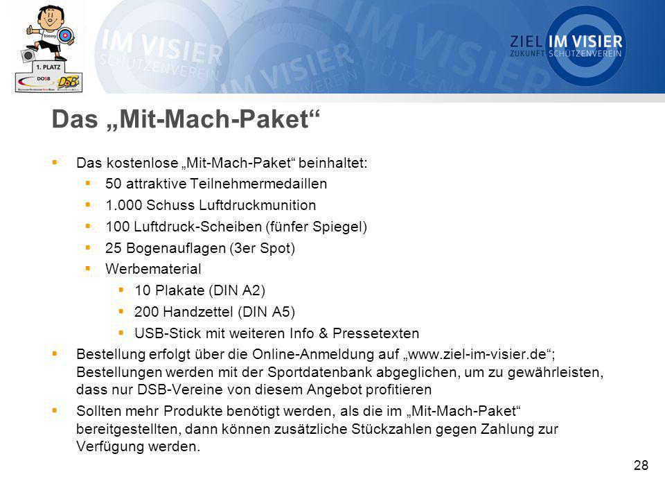 """Das """"Mit-Mach-Paket Das kostenlose """"Mit-Mach-Paket beinhaltet:"""