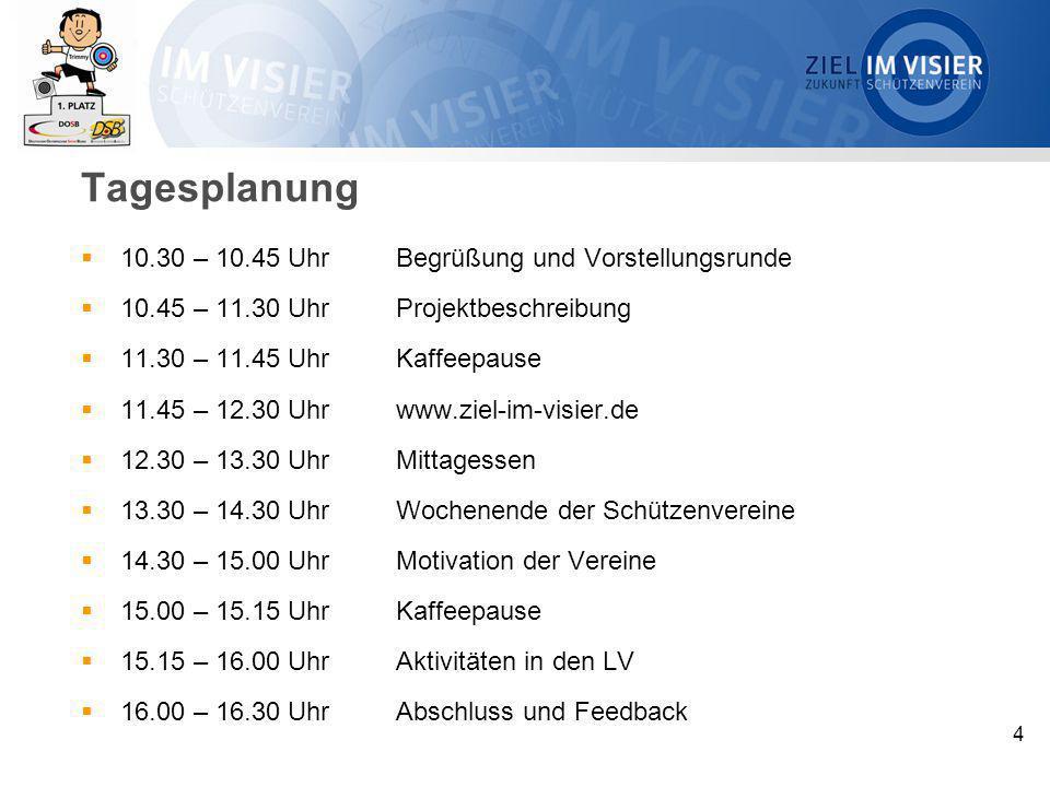 Tagesplanung 10.30 – 10.45 Uhr Begrüßung und Vorstellungsrunde