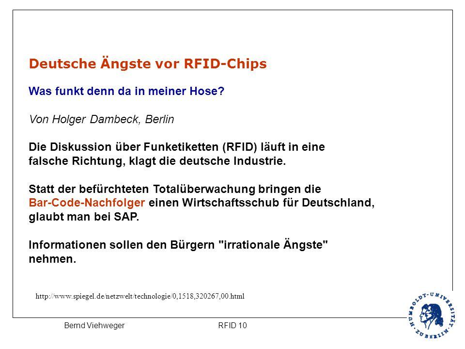 Deutsche Ängste vor RFID-Chips Was funkt denn da in meiner Hose