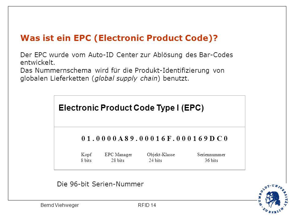 Kopf EPC Manager Objekt-Klasse Seriennummer