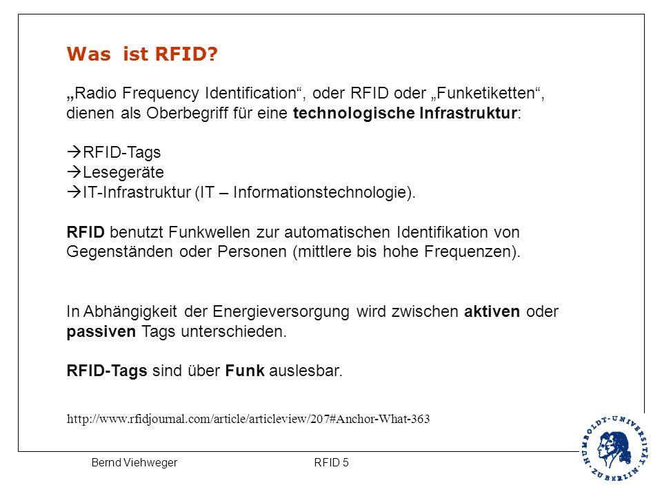 """Was ist RFID """"Radio Frequency Identification , oder RFID oder """"Funketiketten , dienen als Oberbegriff für eine technologische Infrastruktur:"""
