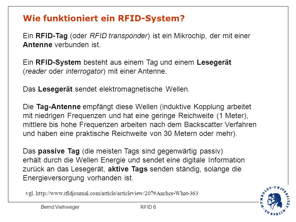 Wie funktioniert ein RFID-System