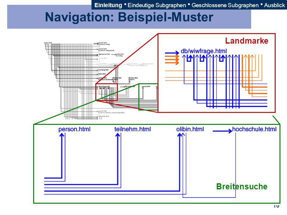 Navigation: Beispiel-Muster