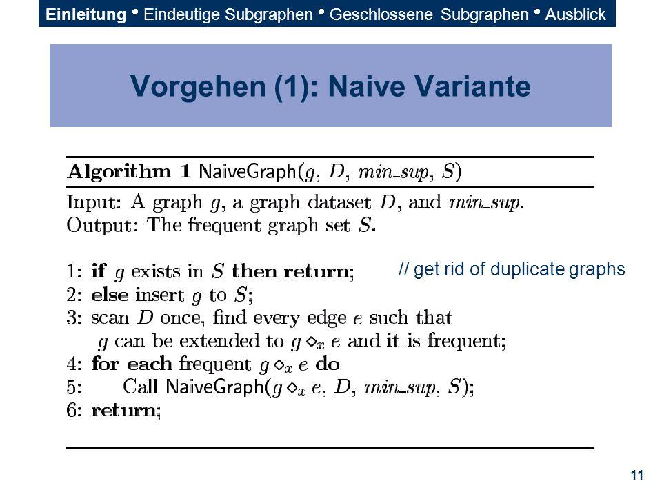 Vorgehen (1): Naive Variante