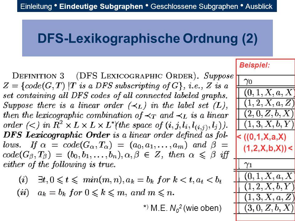 DFS-Lexikographische Ordnung (2)