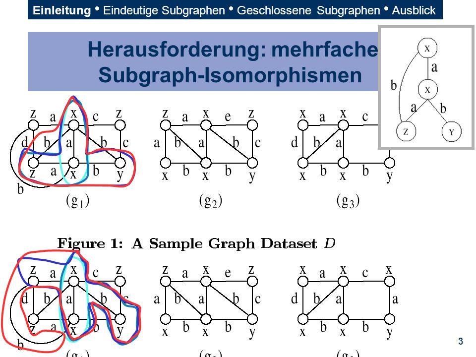 Herausforderung: mehrfache Subgraph-Isomorphismen