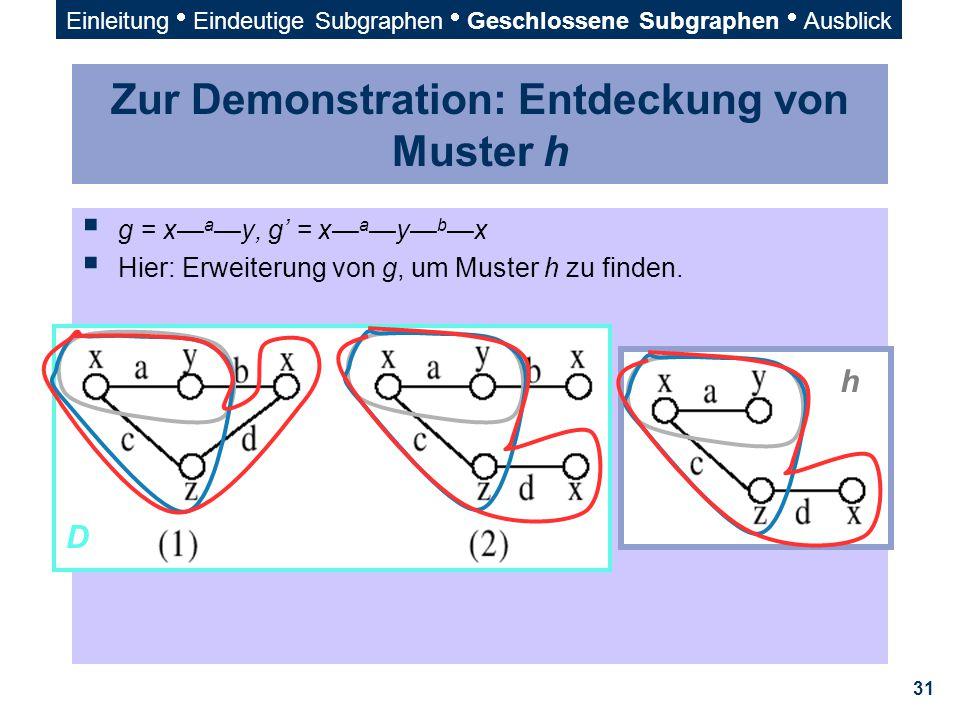 Zur Demonstration: Entdeckung von Muster h
