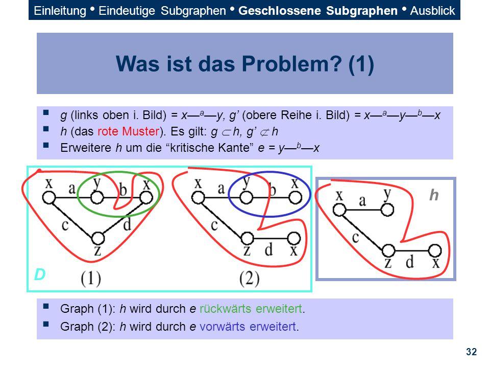 Was ist das Problem (1) h D