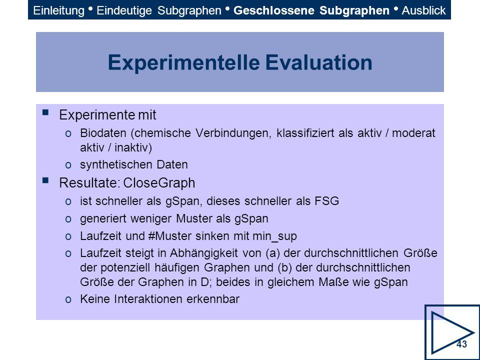 Experimentelle Evaluation