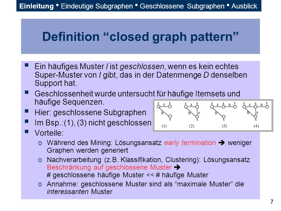 Definition closed graph pattern