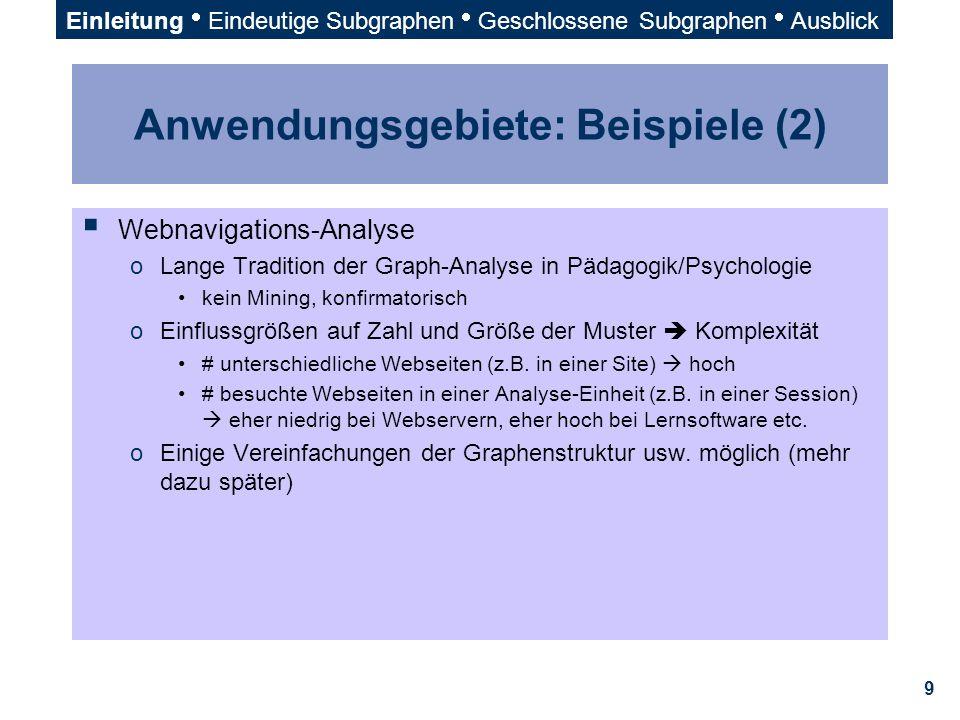 Anwendungsgebiete: Beispiele (2)