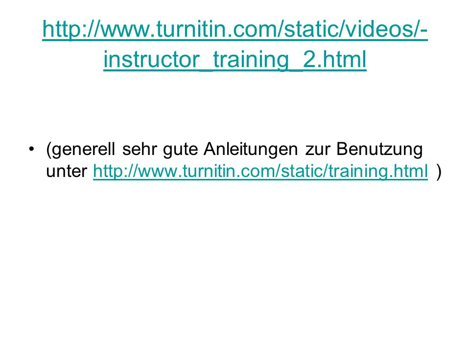 http://www.turnitin.com/static/videos/-instructor_training_2.html