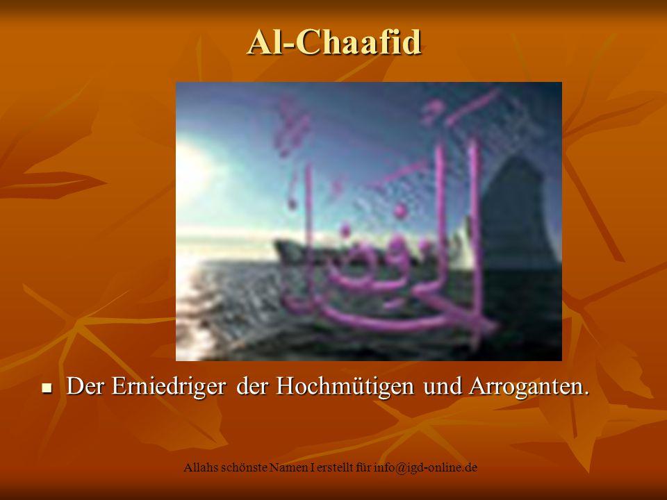Allahs schönste Namen I erstellt für info@igd-online.de