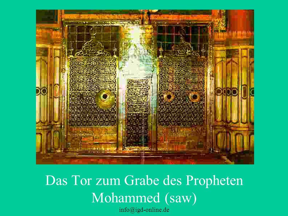 Das Tor zum Grabe des Propheten Mohammed (saw)