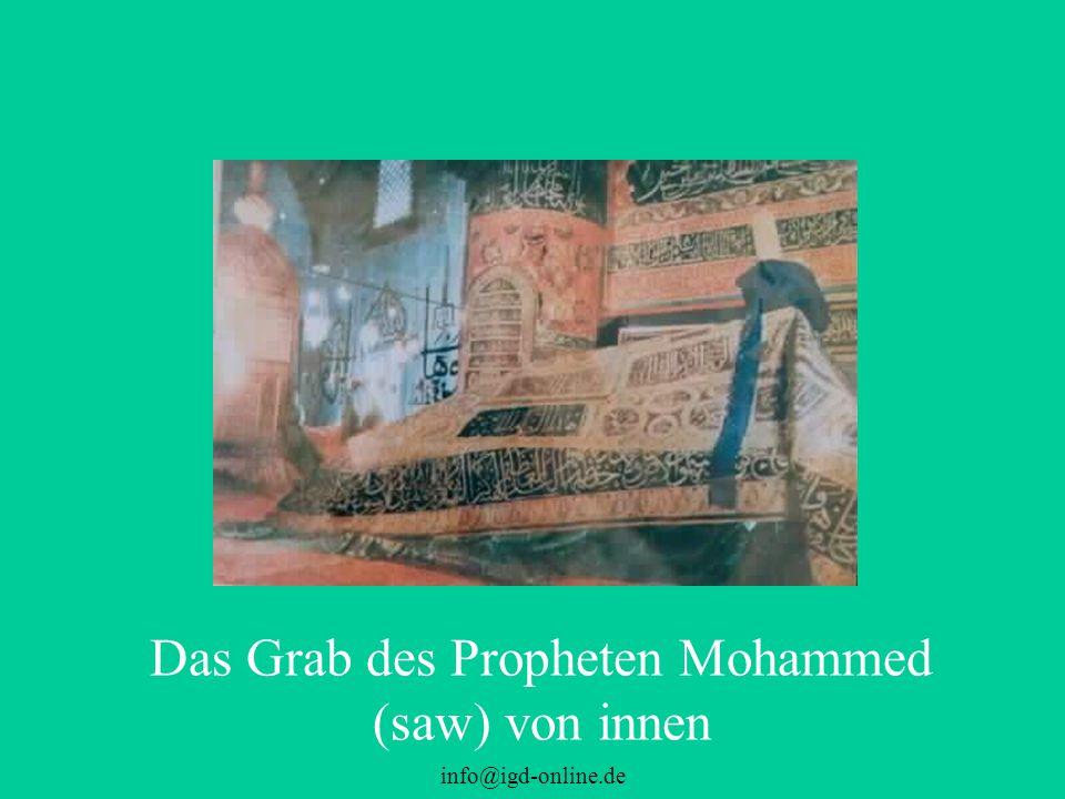 Das Grab des Propheten Mohammed (saw) von innen
