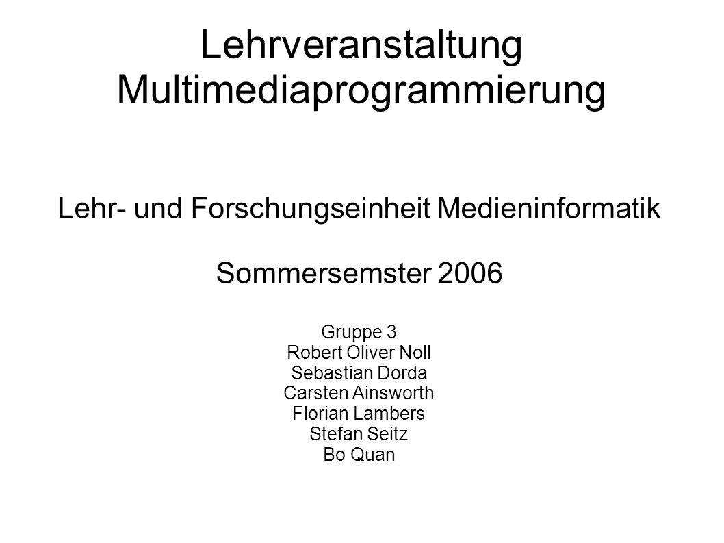 Lehrveranstaltung Multimediaprogrammierung