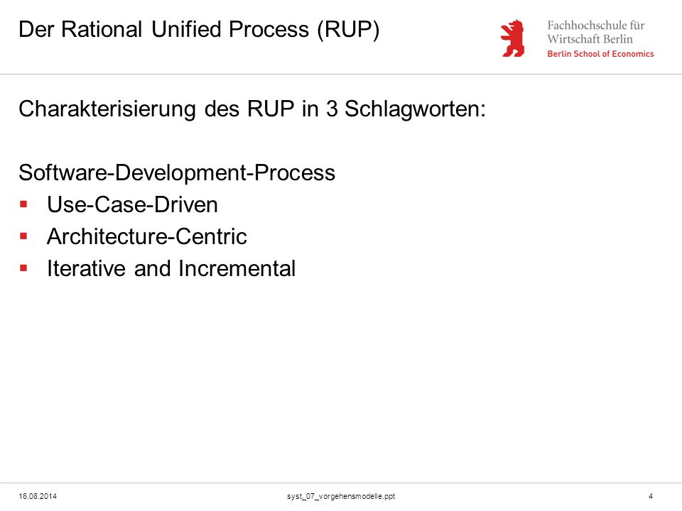 Der Rational Unified Process (RUP)