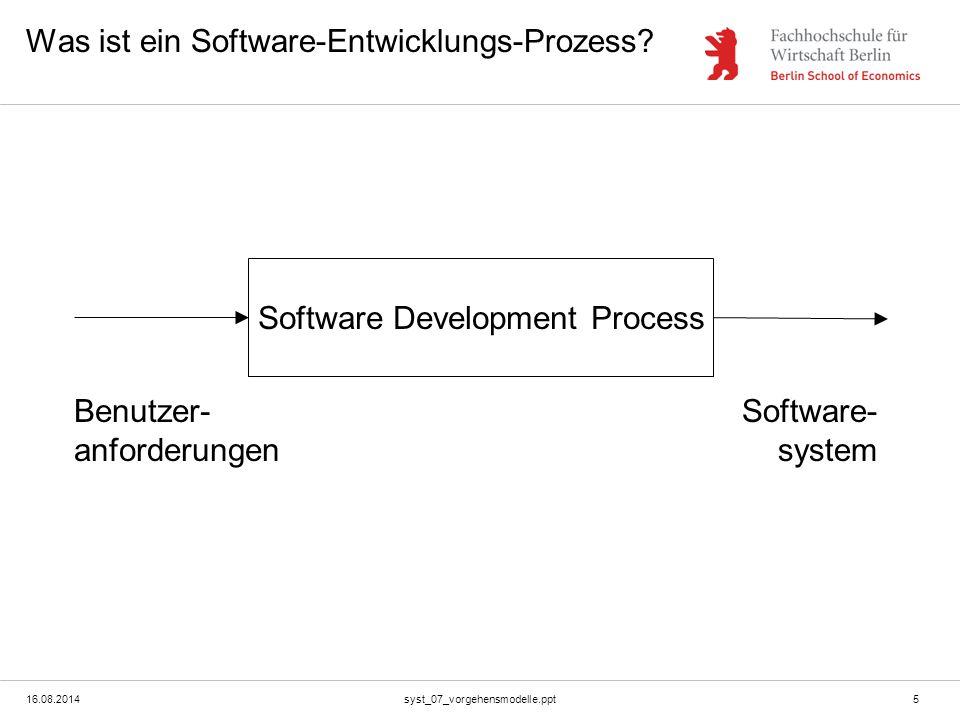 Was ist ein Software-Entwicklungs-Prozess