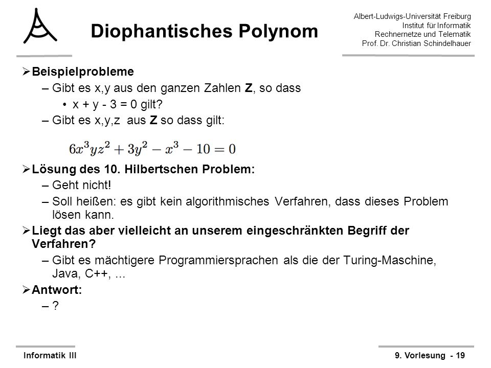 Diophantisches Polynom