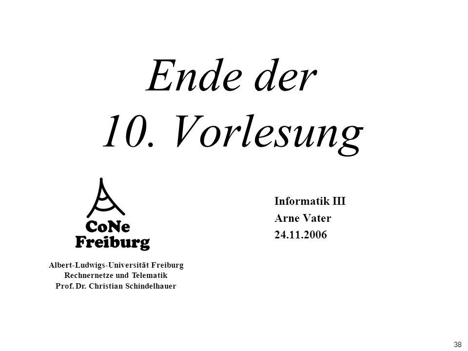 Informatik III Arne Vater 24.11.2006
