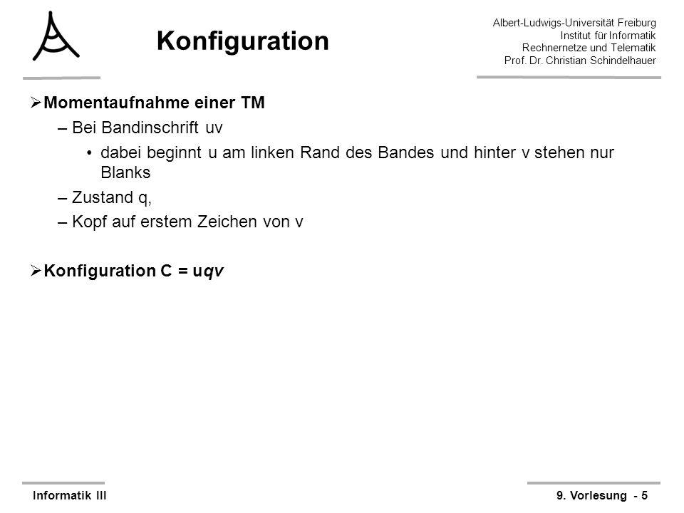 Konfiguration Momentaufnahme einer TM Bei Bandinschrift uv