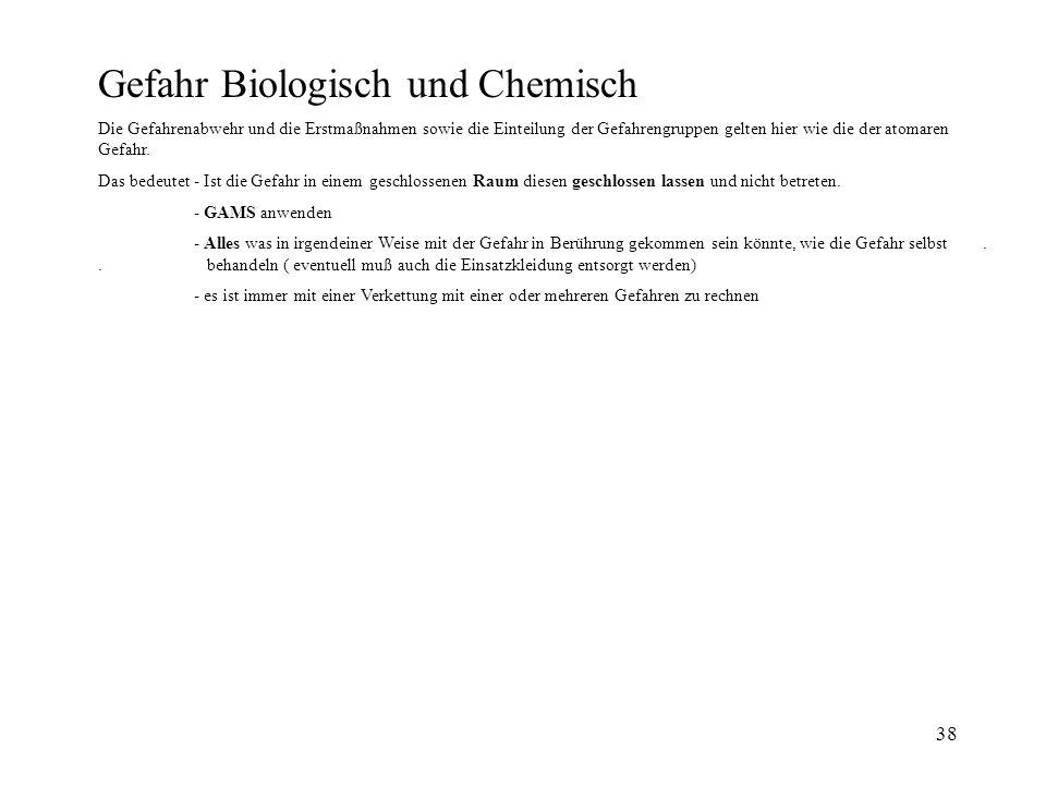 Gefahr Biologisch und Chemisch