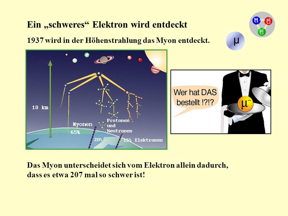 """µ Ein """"schweres Elektron wird entdeckt"""