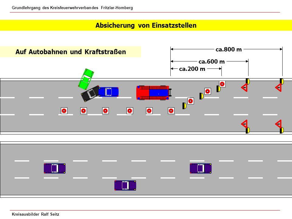 Absicherung von Einsatzstellen Auf Autobahnen und Kraftstraßen
