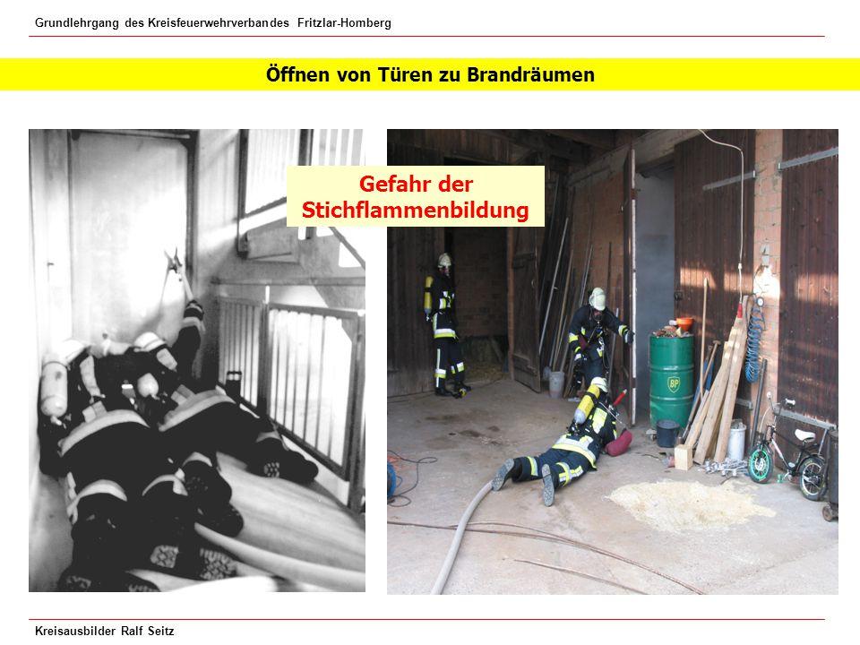 Öffnen von Türen zu Brandräumen Gefahr der Stichflammenbildung