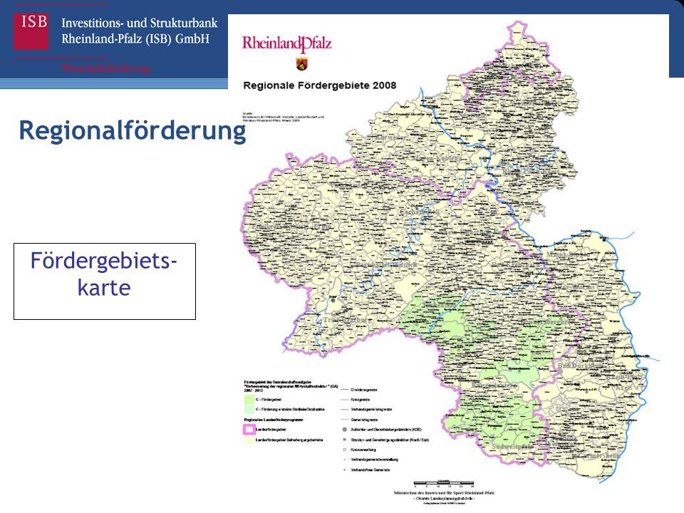 Regionalförderung Fördergebiets- karte
