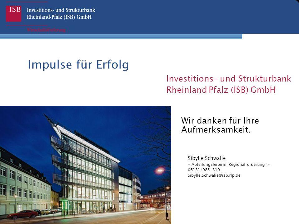 Impulse für Erfolg Investitions- und Strukturbank