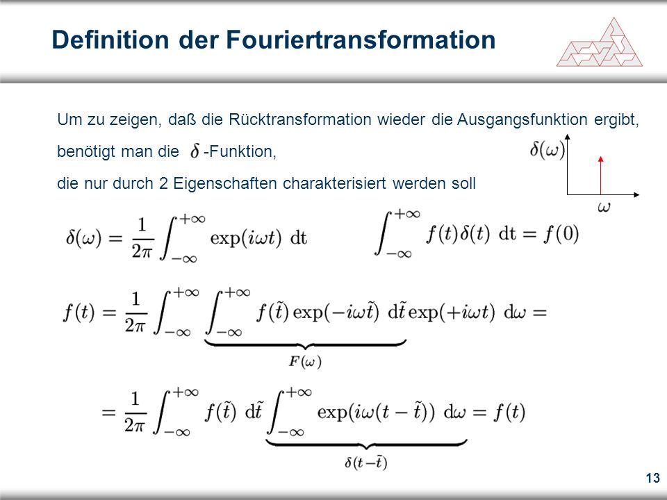 Definition der Fouriertransformation
