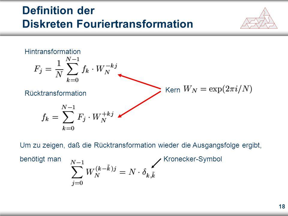 Definition der Diskreten Fouriertransformation