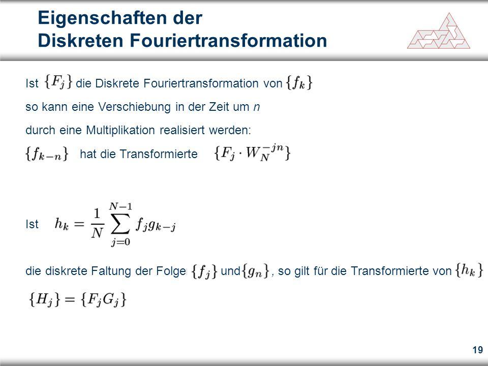 Eigenschaften der Diskreten Fouriertransformation