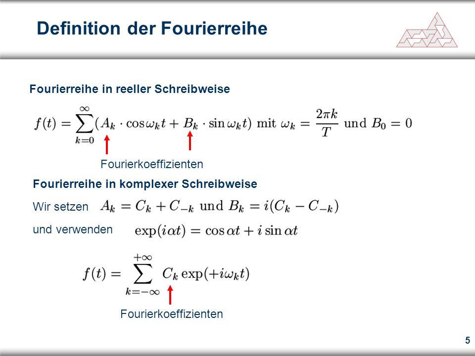 Fourierreihe in reeller Schreibweise