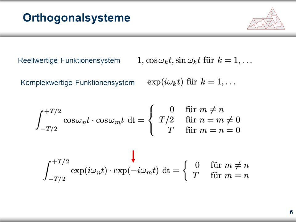 Orthogonalsysteme Reellwertige Funktionensystem