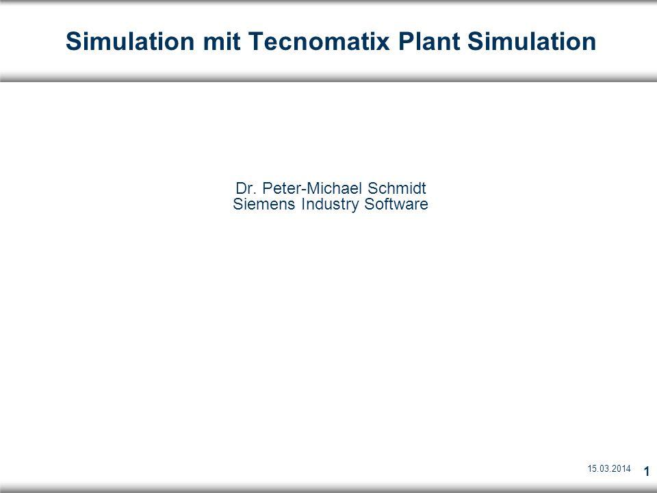 Simulation mit Tecnomatix Plant Simulation
