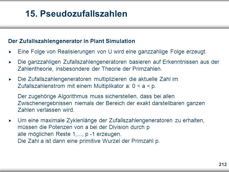 15. Pseudozufallszahlen Der Zufallszahlengenerator in Plant Simulation