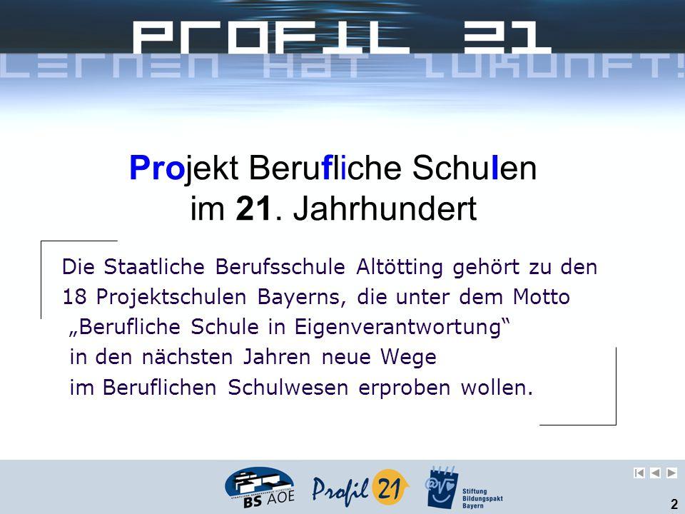 Projekt Berufliche Schulen im 21. Jahrhundert