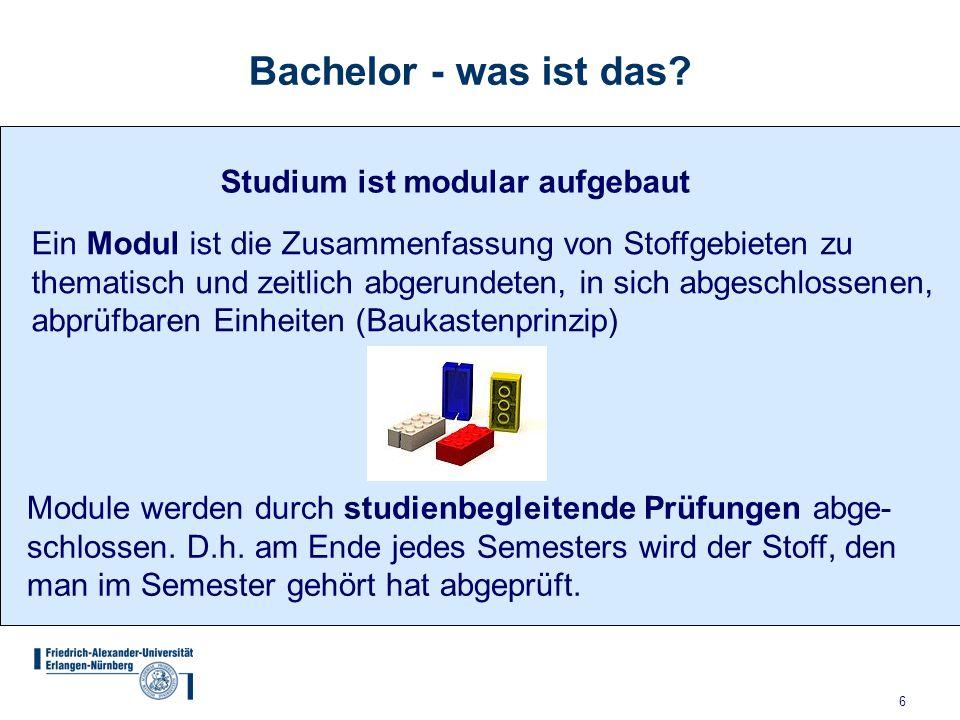 Bachelor - was ist das Studium ist modular aufgebaut