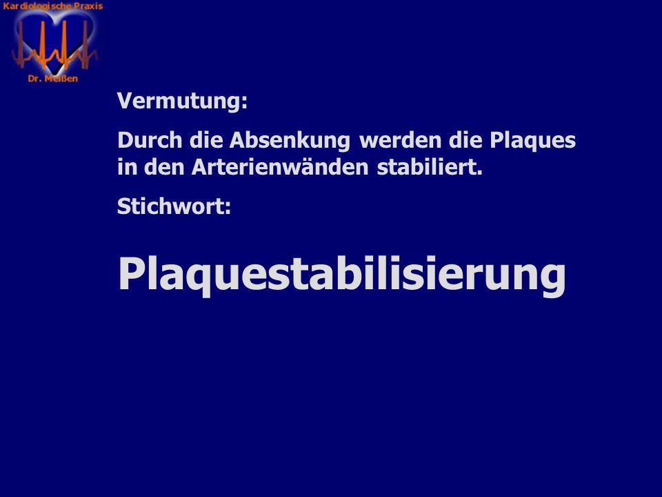 Plaquestabilisierung