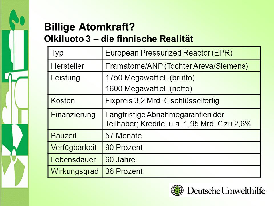 Billige Atomkraft Olkiluoto 3 – die finnische Realität