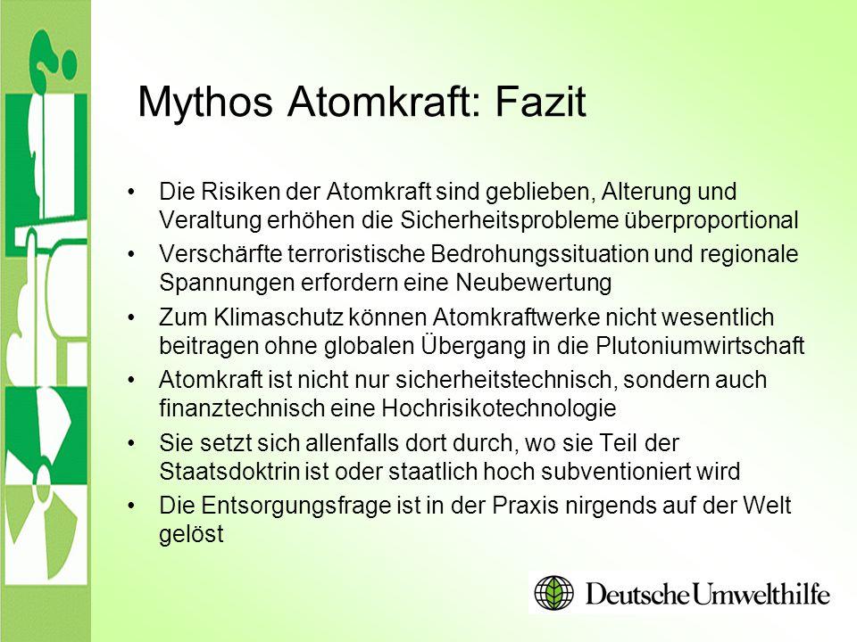 Mythos Atomkraft: Fazit