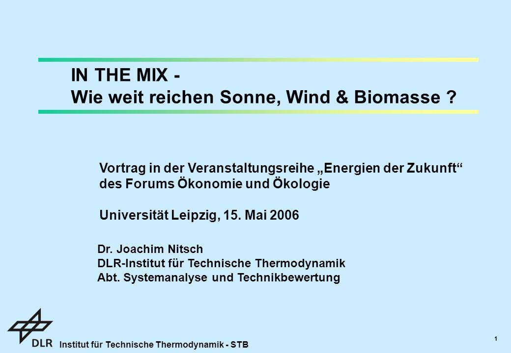Wie weit reichen Sonne, Wind & Biomasse