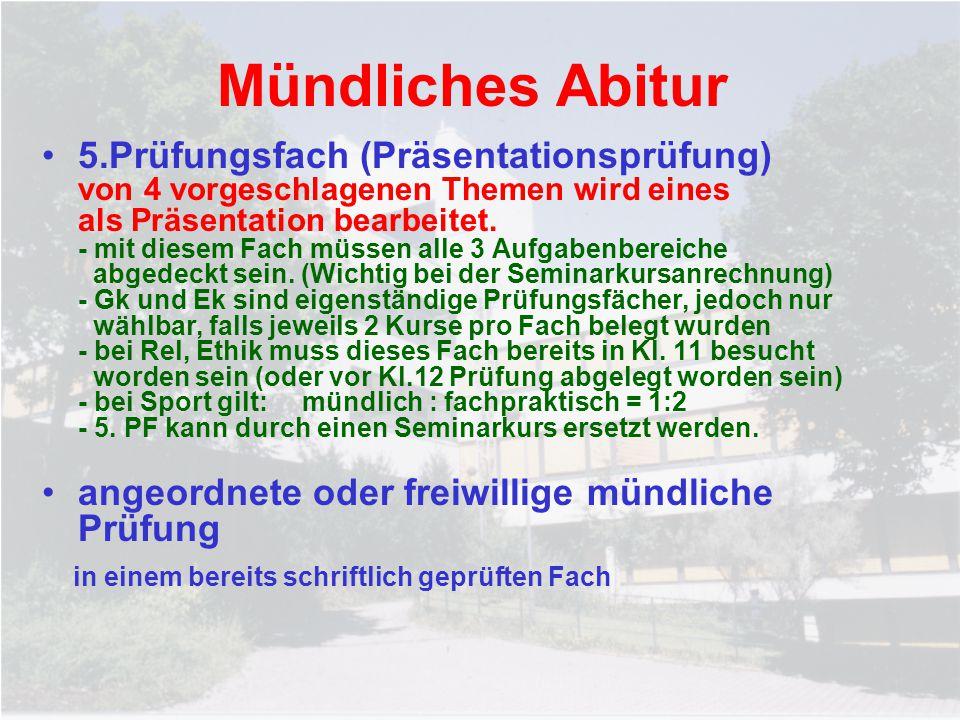 Mündliches Abitur