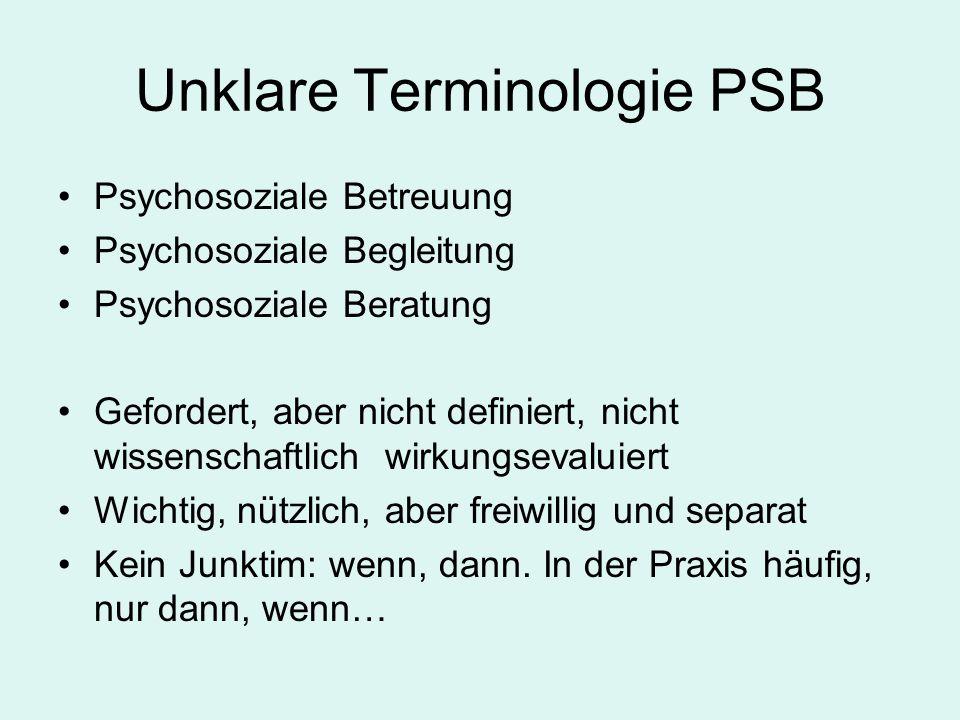 Unklare Terminologie PSB