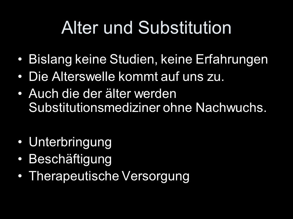 Alter und Substitution