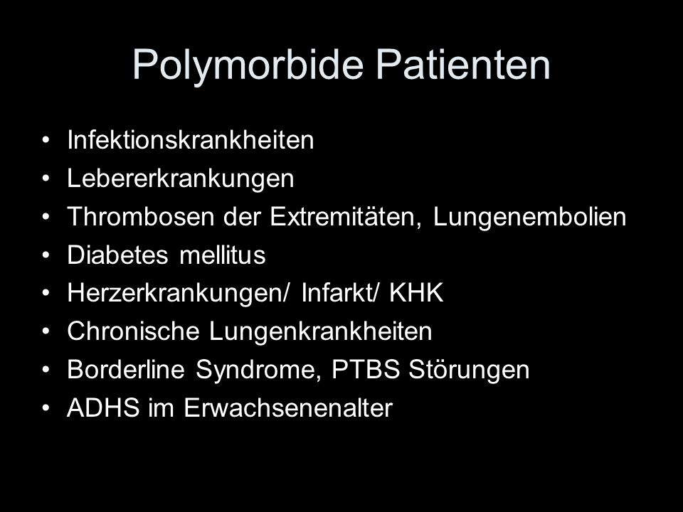 Polymorbide Patienten